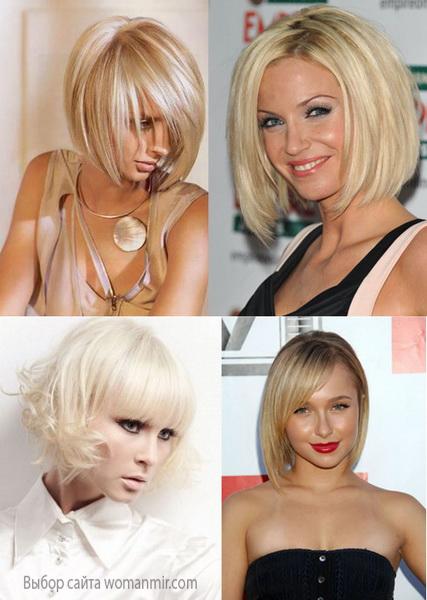 варіанти стрижки боб на тонке волосся