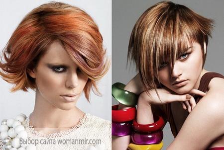 зачіска каскад - колорування і мелірування волосся