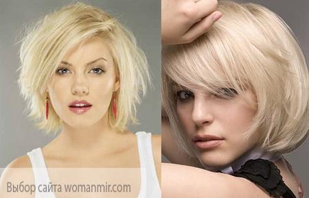 стрижка каскад з коротким волоссям у блондинок